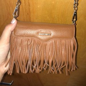Rebecca Minkoff Fringe Leather Tech Crossbody